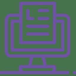 ícone relatório no computador