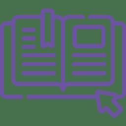 ícone livro físico